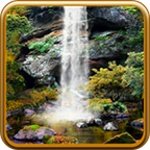 3D Autumn Waterfall